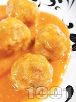Тефтели - израелски телешки кюфтета в доматен сос - снимка на рецептата